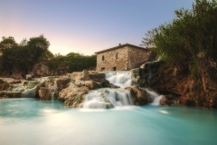 Waterfalls natural spa in Tuscany, Italy